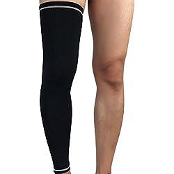 Beinwärmer Leg Warmers /Accesorio de Ciclismo,Anti-UV Perneras Mangas Elástica Transpirable Como , Calcetines de Compresion de Pierna Completa (Envoltura única) Blanco negro XL
