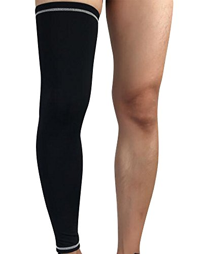 Genouillère de compression,Protection de Stabilisation et de Style Antidérapantes/Aide Récupération,pour hommes et femmes(1 pièce) Noir Blanc L
