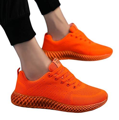 Herren Damen Freizeit Schnürer Sportschuhe Sneaker TWBB Herren Platform Sneaker Modisch Dämpfung rutschfeste Atmungsaktiv Mesh Sportschuhe Turnschuhe Fitnessschuhe -