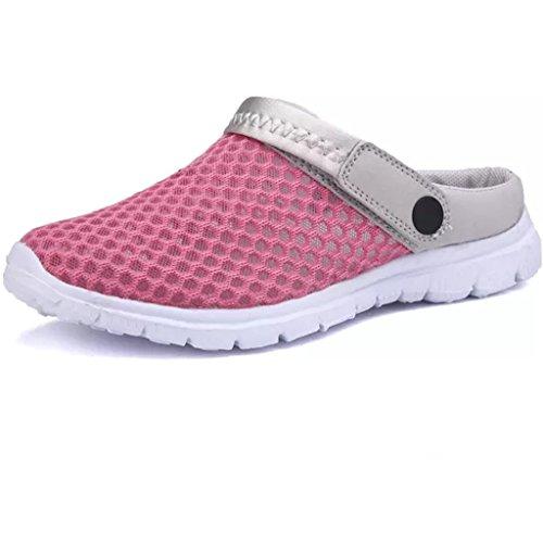 Eagsouni Sommer Damen Clogs Atmungsaktiv Mesh Herren Hausschuhe Schuhe Outdoor Rutschfest Sandalen Pantoletten (Mesh-pantoletten)