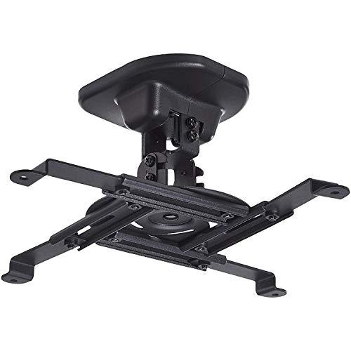 AmazonBasics - Neigbare Projektor-Halterung für die Decke/Wand, Traglast: 15 kg, Schwarz