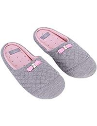 39f43a8b5bf42 Chaussons Pantoufles Femmes d intérieur Antidérapant Maison Chaussures  Confortable Douce Mules Nœuds Papillon Slippers en