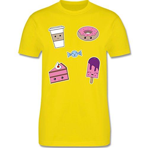 Küche - Kawaii Sweets - Herren Premium T-Shirt Lemon Gelb