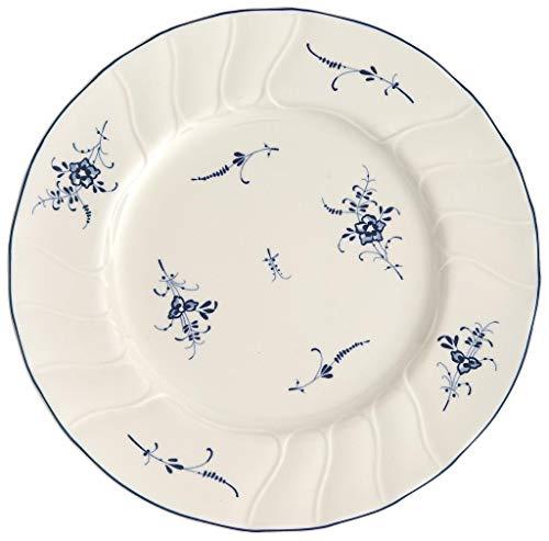 Villeroy & Boch Vieux Luxembourg Assiette petit-déjeuner, 21 cm, Porcelaine Premium, Blanc/Bleu