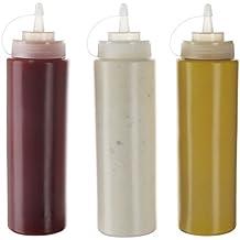 (Pack de 3) Botellas de Plastico Grandes 590 ml con Tapas de Rosca –