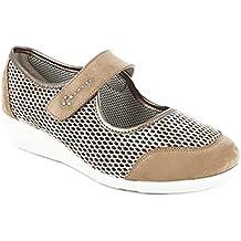 Zapato Mujer Merceditas Marca DOCTOR CUTILLAS, en Piel Nobuk Color Tostado - 3275-321