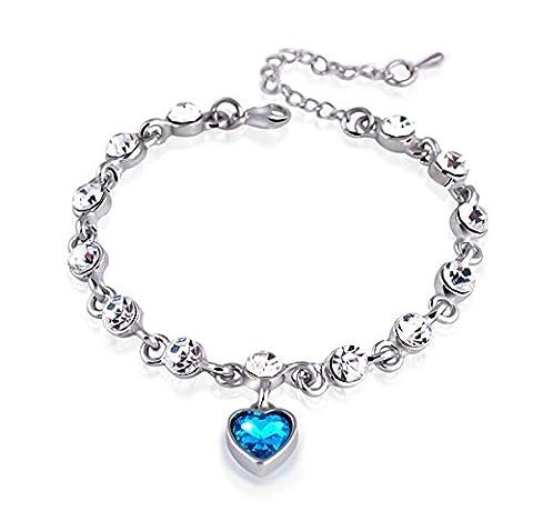 Hosaire 1X Womens Girls Fashion Elegant Hand Chain Charm Crystal Bracelet Women'S Jewelry
