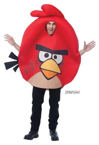 Rotes Angry Birds Kostüm (Bird Kostüm Angry Schwarze)