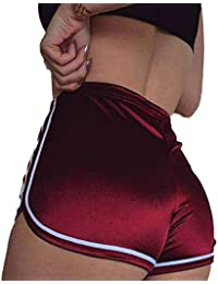 SEASUM Women's Sexy Booty Dolphin Shorts Sports Gym Workout Yoga Hot Pants
