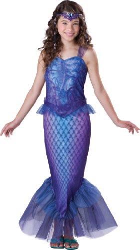 (Generique - Deluxe Meerjungfrau Kostüm für Mädchen 140/152 (10-12 Jahre))