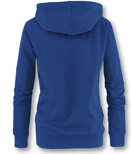 EZYshirt® Team Custom Surf Damen Hoodie Royal/Weiss