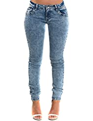 Women's Blue Glam Distressed Fitted Casual Stunning Skinny Jeans