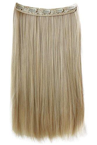 PRETTYSHOP 5 Clips 60cm 120g Clip In Extensions ein Tresse f. ganzen Kopf Haarverlängerung glatt diverse Farben