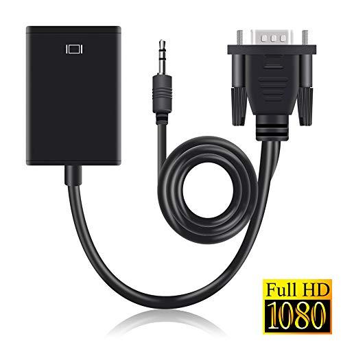 Blizim Cable Adaptador Convertidor de VGA a HDMI con Audio para PC HDTV