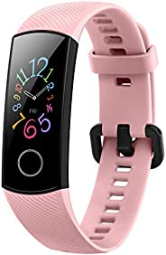 HONOR Band 5 (CoralPink)- Waterproof Full Color AMOLED Touchscreen, SpO2 (Blood Oxygen), Music Control, Watch