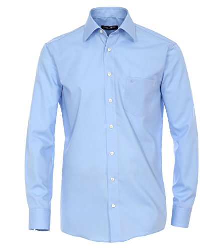 CASA Moda - Modern Fit - Bügelfreies Herren Business Langarm Hemd Verschiedene Farben (006550) Blau (16)