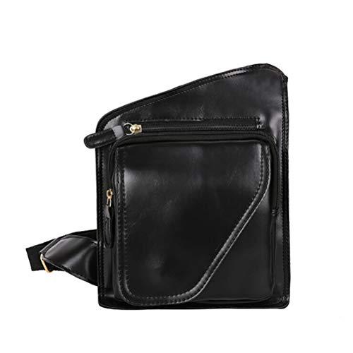 JIFNCR PU Leder Männer Brust Packs Marke Kleine Umhängetasche für Männer Taille Schulter Handtaschen Männer Messenger Bags - Marke Messenger