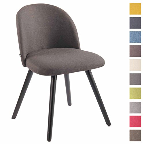 Clp sedia da pranzo nelson in tessuto - sedia design soggiorno imbottita e dotata di schienale i poltroncina salotto con telaio in legno di faggio i sedia da tavolo design nordico grigio scuro nero