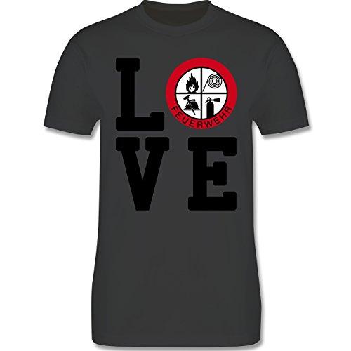 Feuerwehr - LOVE Feuerwehr - Herren Premium T-Shirt Dunkelgrau