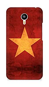 Amez designer printed 3d premium high quality back case cover for Meizu M2 Note (Star surface paint)