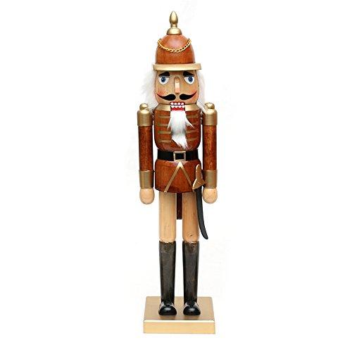 Dekohelden24 Wunderschöner Nussknacker Soldat, in braun, ca. 50 cm