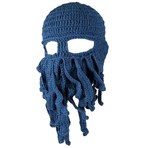 Uzinb Winter Unisex Tentakel Octopus Strickmütze Hut Mütze Wind Ski Mask