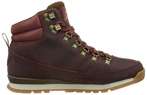 North Face - M Back-To-Berkeley Redux Leather, Scarpe sportive Uomo Multicolore (Rojo / Marrón)