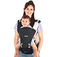 Baby Carrier Hip Seat Sling by NimNik Best Safe Backpack Carriers Back Pain Support (Pearl Black)