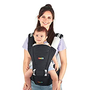 Baby Carrier Hip Seat Sling by NimNik Best Safe Backpack Carriers Back Pain Support (Pearl Black) Ergobaby Four ergonomic positions Maximum comfort for parent Comfort & proper ergonomics for baby 8