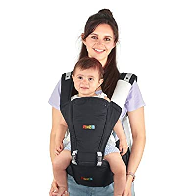 Baby Carrier Hip Seat Sling by NimNik Best Safe Backpack Carriers Back Pain Support (Pearl Black)  Boba