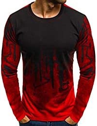 f3e6c6e24874 Herren Longsleeve Langarmshirt Shirt Basic Bluse Tops Herren Basic  Longsleeve O-Neck T-Shirt
