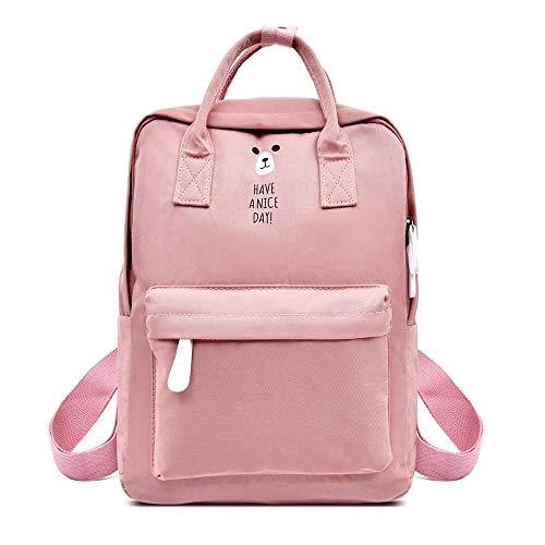 LEWWB-Schulrucksack, Slim High School, wasserfester Student-Daypack für Mädchen, Junge, Jugendliche,Pink (Nike Rucksack Damen Pink)