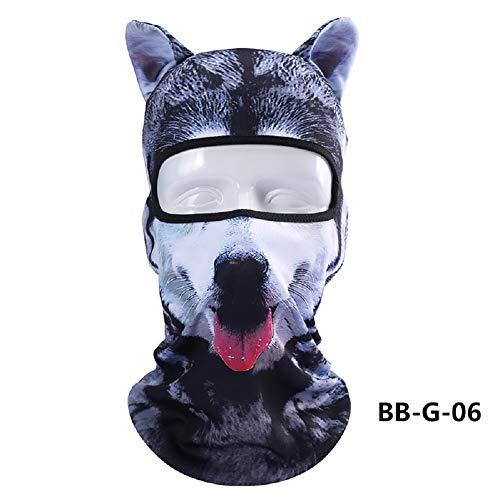 er Tierohren der Tiere 3D Gesichtsmaske Winddicht Atmungsaktiv Kapuze für Winter Sommer Outdoor Sport Motorrad Radfahren Ski Snowboard Halloween Party,6 ()