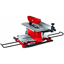 Einhell TH-MS 2112 T - Ingletadora con mesa superior, hoja de sierra 30 x 210 mm, 4500 rpm, 1200 W, 230 V, color rojo y negro