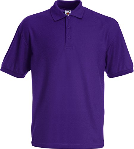 POLOSHIRT FRUIT OF THE LOOM 65/35 S M L XL XXL S,lila S,Violett