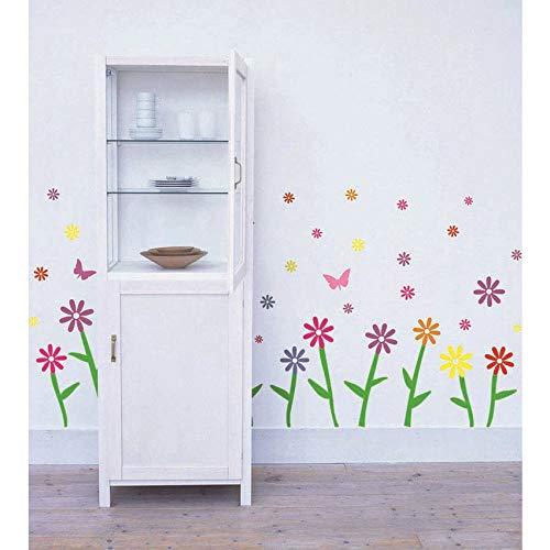 Xlei adesivi murali trasporto libero nuovo arrivo diy pvc farfalla e piccolo fiore adesivi murali per la decorazione domestica soggiorno scale decor ay729