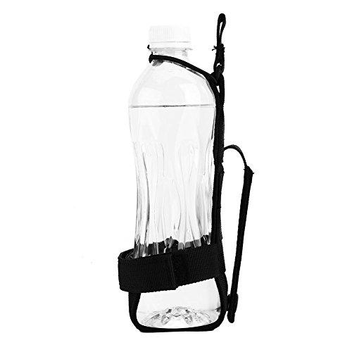 Outdoor Sport Wasserflasche Beutel Nylon Wasserflaschenhalter Gürtel zum Wandern Radfahren Camping ( Farbe : Schwarz ) -