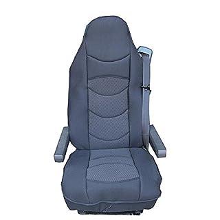 Sitzauflage LKW-Sitz Sitzbezug Bezug Sitzschoner Schwarz Polyester Neu