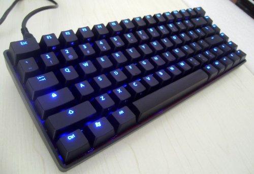 KBTalking KBT Race 75% - Mx-Black (Blaue Hintergrundbeleuchtung) - NKRO [ANSI US International - QWERTY] - mechanische Tastatur -
