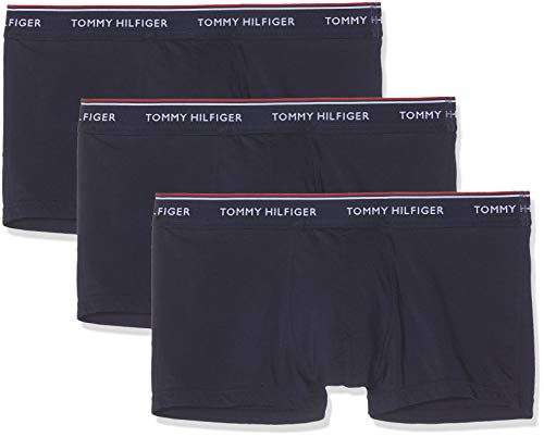 Tommy Hilfiger Herren Hüft-Shorts 3p Lr Trunk, 3er Pack, Blau (Peacoat-Pt 409), Medium