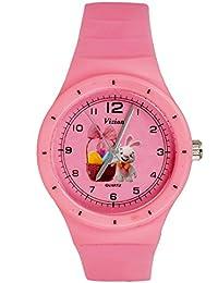 Vizion Analog Pink Medium Dial (MANGTO-The Gift Basket Bunny) Cartoon Character Watch For Kids-8825-3-2