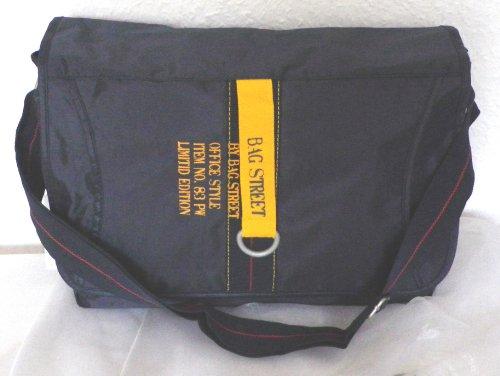NB24 Bag Street Überschlagtasche (2353), Damentasche, Herrentasche, Messenger Bag, Kuriertasche, Umhängetasche, ca. 40 x 25 x 9 cm, mit Reißverschluß