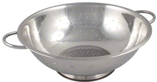 Browne (R27) 5 qt Stainless Steel Footed Colander by Browne Foodservice 5 Quart Colander