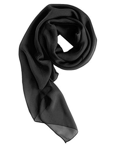 Dresstells Chiffon Schal Stola für Abendkleider in verschiedenen Farben Black 180cmX72cm