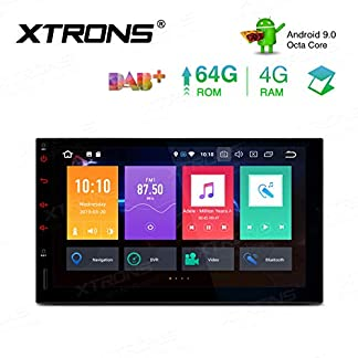 XTRONS-7-8-Core-Android-Double-DIN-Autoradio-mit-Touchscreen-Auto-Multimedia-Player-Android-90-Octa-Core-Autostereo-2DIN-CAR-Auto-Play-4G-Bluetooth-4GB-RAM-64GB-ROM-DAB-OBD2-TPMS-UNIVERSAL