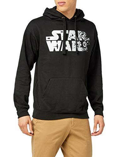 Star Wars Rebel Text Logo, Sudadera con Capucha para Hombre, Negro (Black BLK), XX-Large