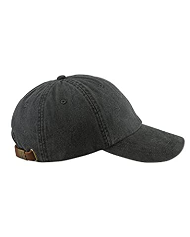 Adams 6-Panel Low-Profile Washed Pigment-Dyed Cap, Black, OS