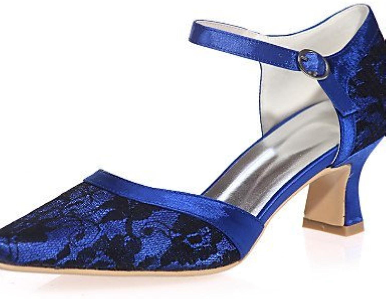 shangyi talons de chaussures mariage de mariage chaussures des femmes bout carré de mariage / partie & soirée noir / b lue / ro se / ivoire / Blanc ,...b01g1g8fvc parent a3d2d5