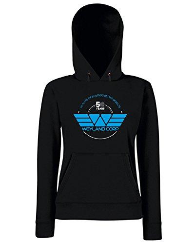 T-Shirtshock - Sweats a capuche Femme TF0062 inspired by Weyland Corporation Noir