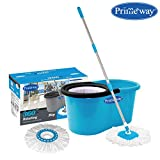 Primeway Pw266Me Double Driver Economy Magic Spin Mop Bucket Set with 2 Mop
